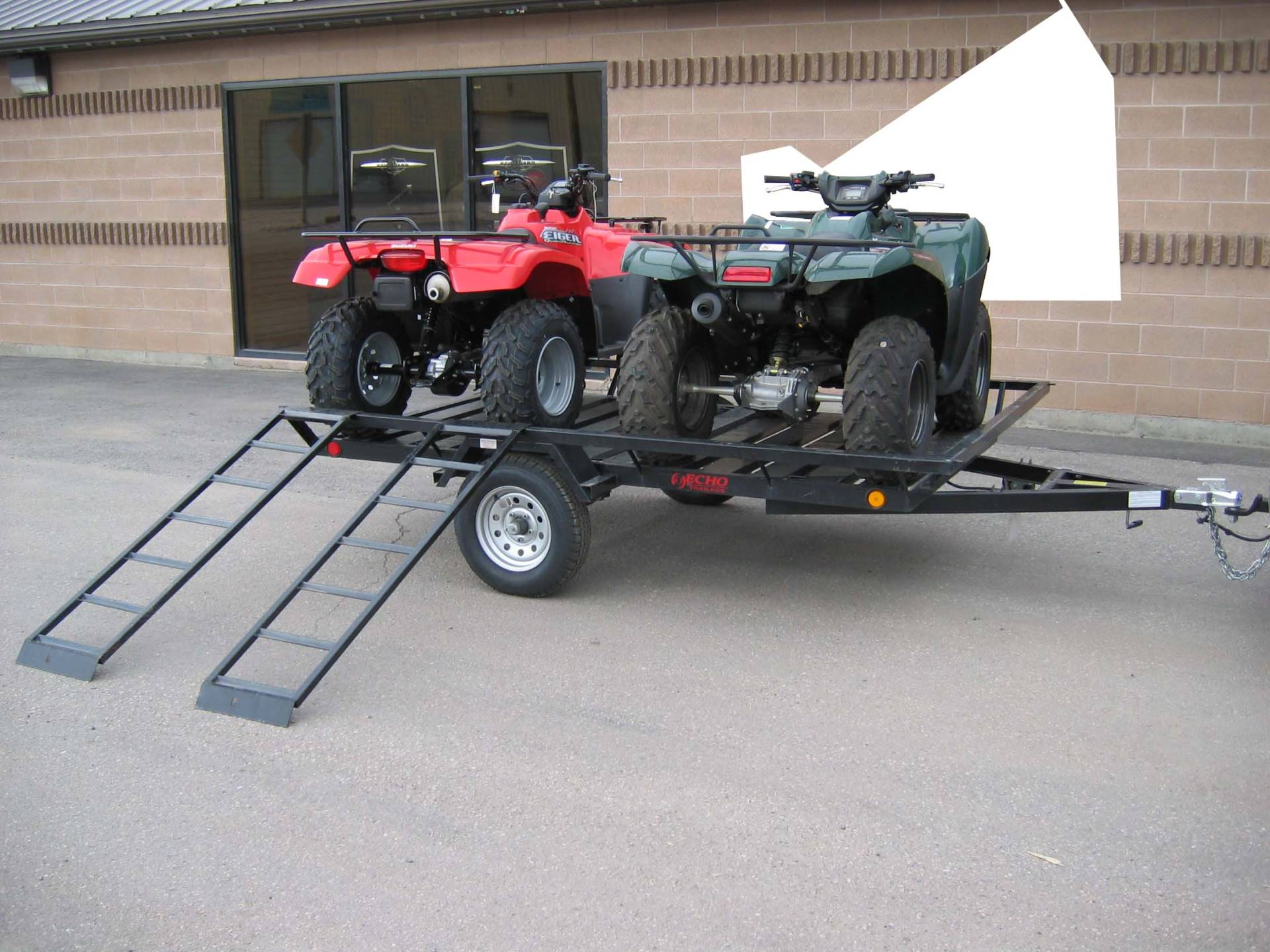 New 2020 Echo Trailers 2 Place Extra Wide Atv 1 Place Utv Trailer Trailers In Spearfish Sd Stock Number Ech
