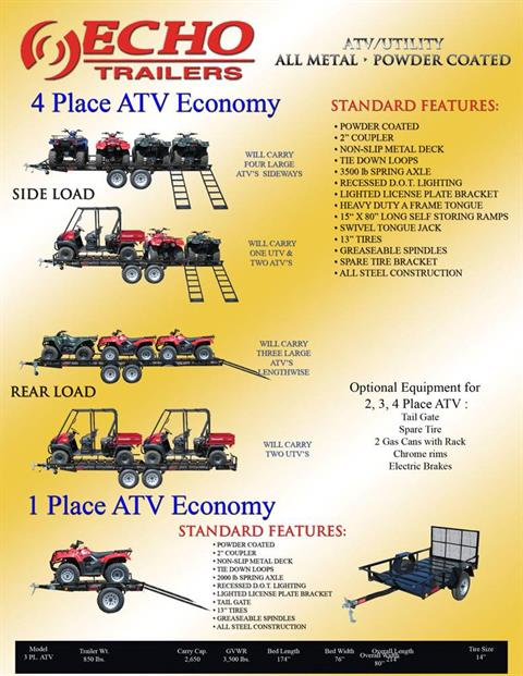 2020 Echo Trailers 4-Place ATV/UTV Trailer in Spearfish, South Dakota - Photo 6
