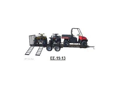 2017 Echo Trailers 4-place ATV/UTV trailer in Spearfish, South Dakota