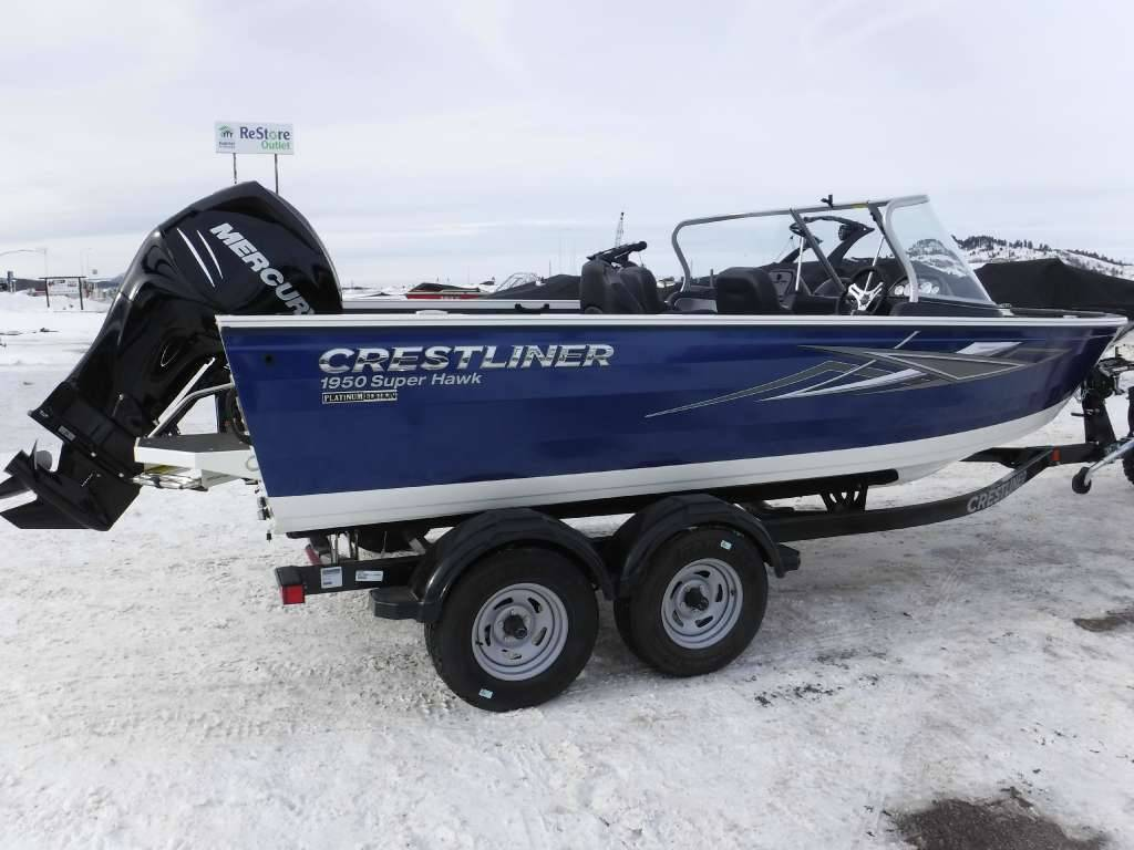 New 2018 crestliner 1950 super hawk power boats outboard for Spearfish motors spearfish sd