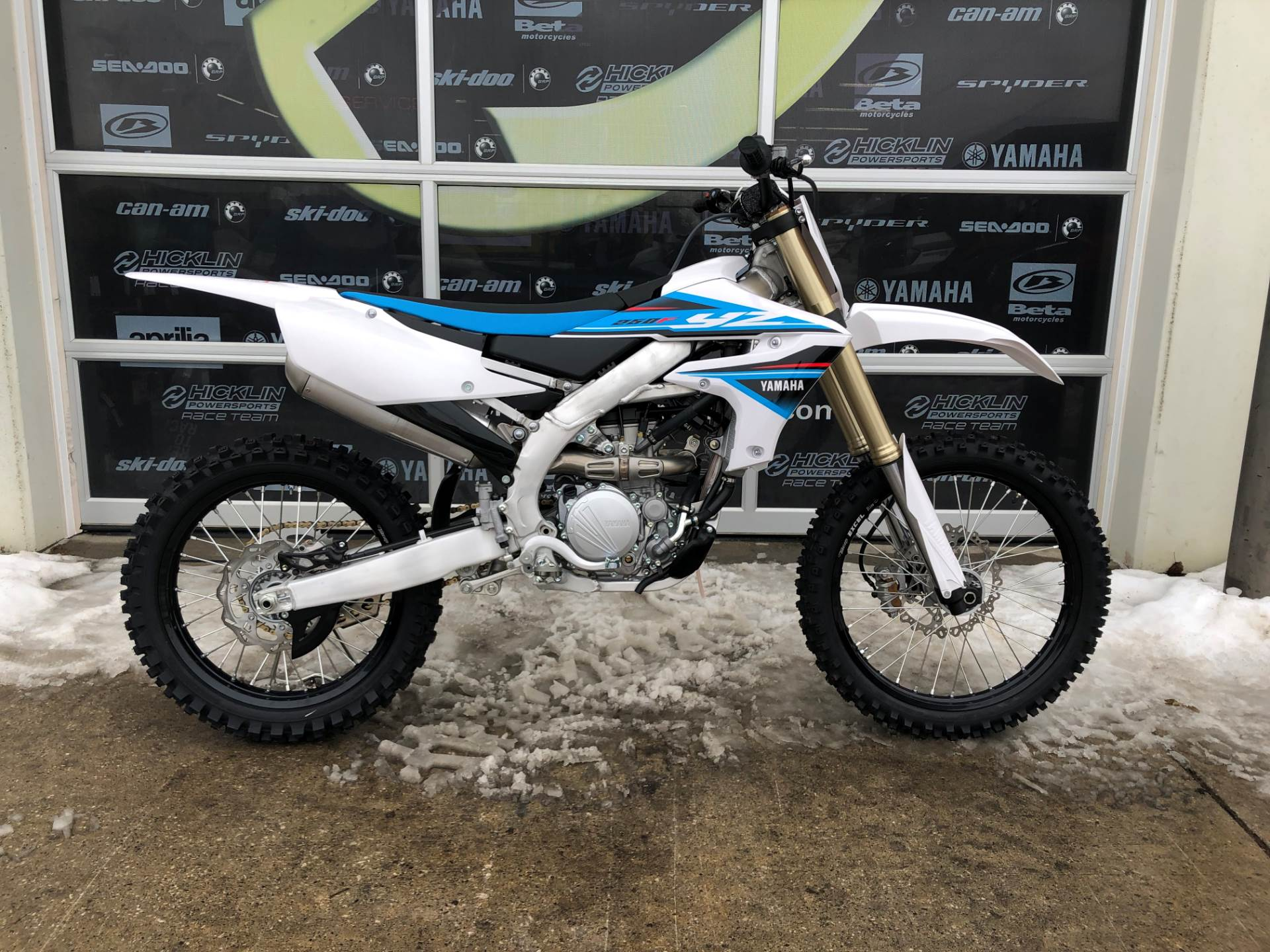 New 2019 Yamaha Yz250f White 3165d Motorcycles In Grimes Ia
