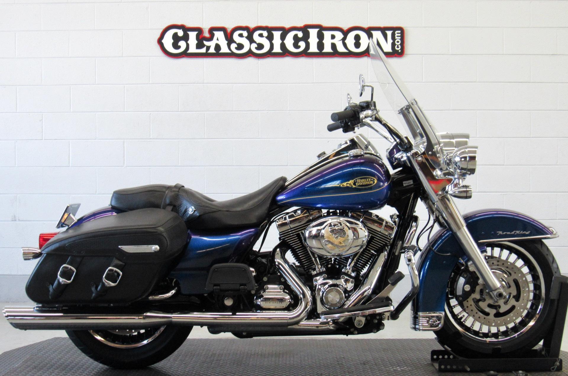Used 2009 Harley Davidson Road King Classic Black Ice Blue Ice Motorcycles In Fredericksburg Va 9389
