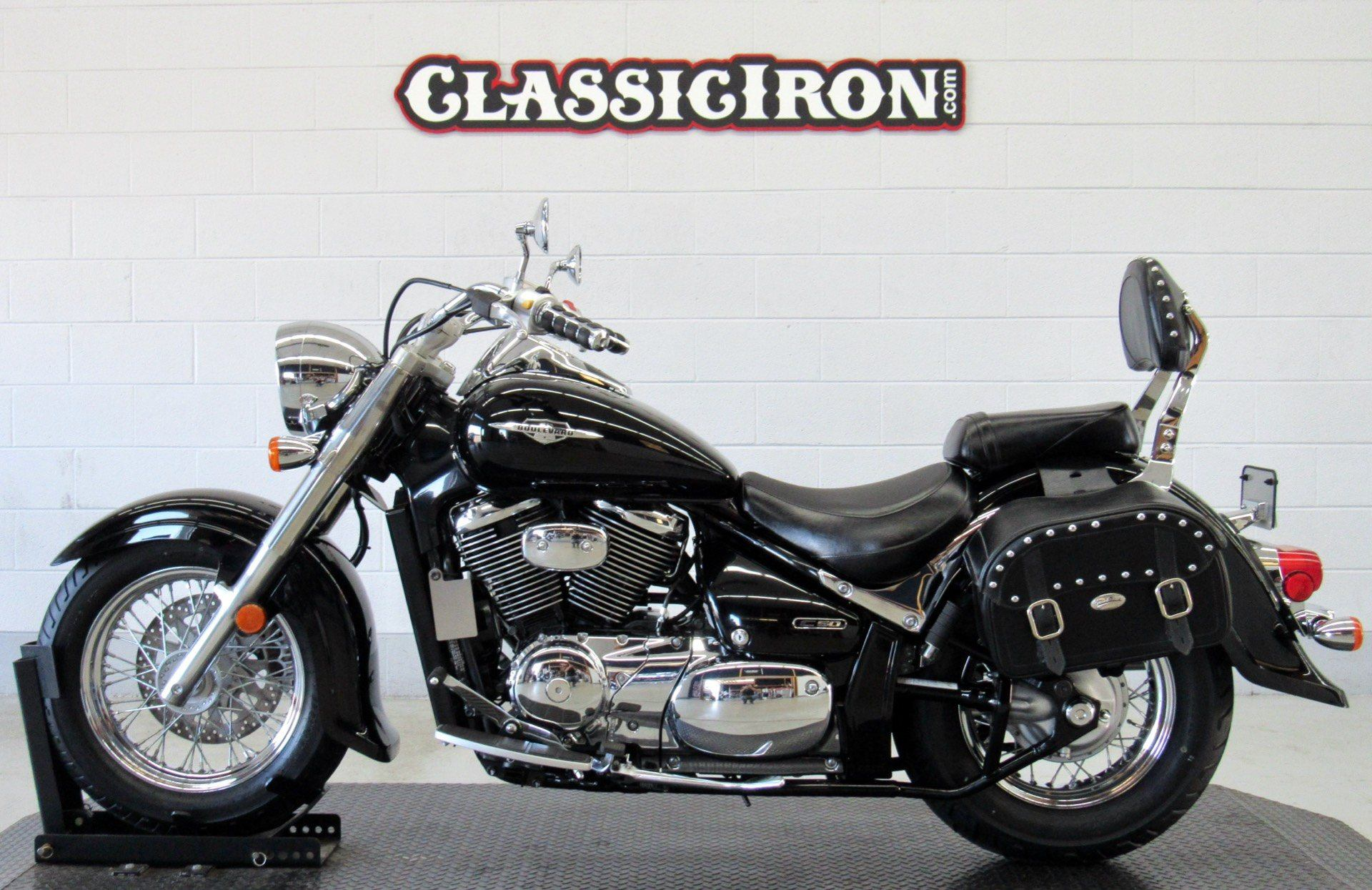 2008 Suzuki Boulevard C50 Black in Fredericksburg, Virginia - Photo 4