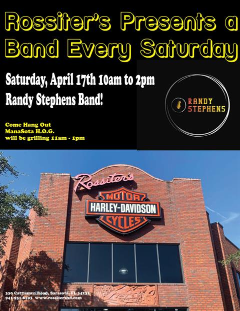 Randy Stephens Band this Saturday