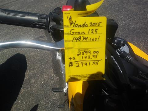 2015 Honda Grom 125 in Lincoln, Maine - Photo 1