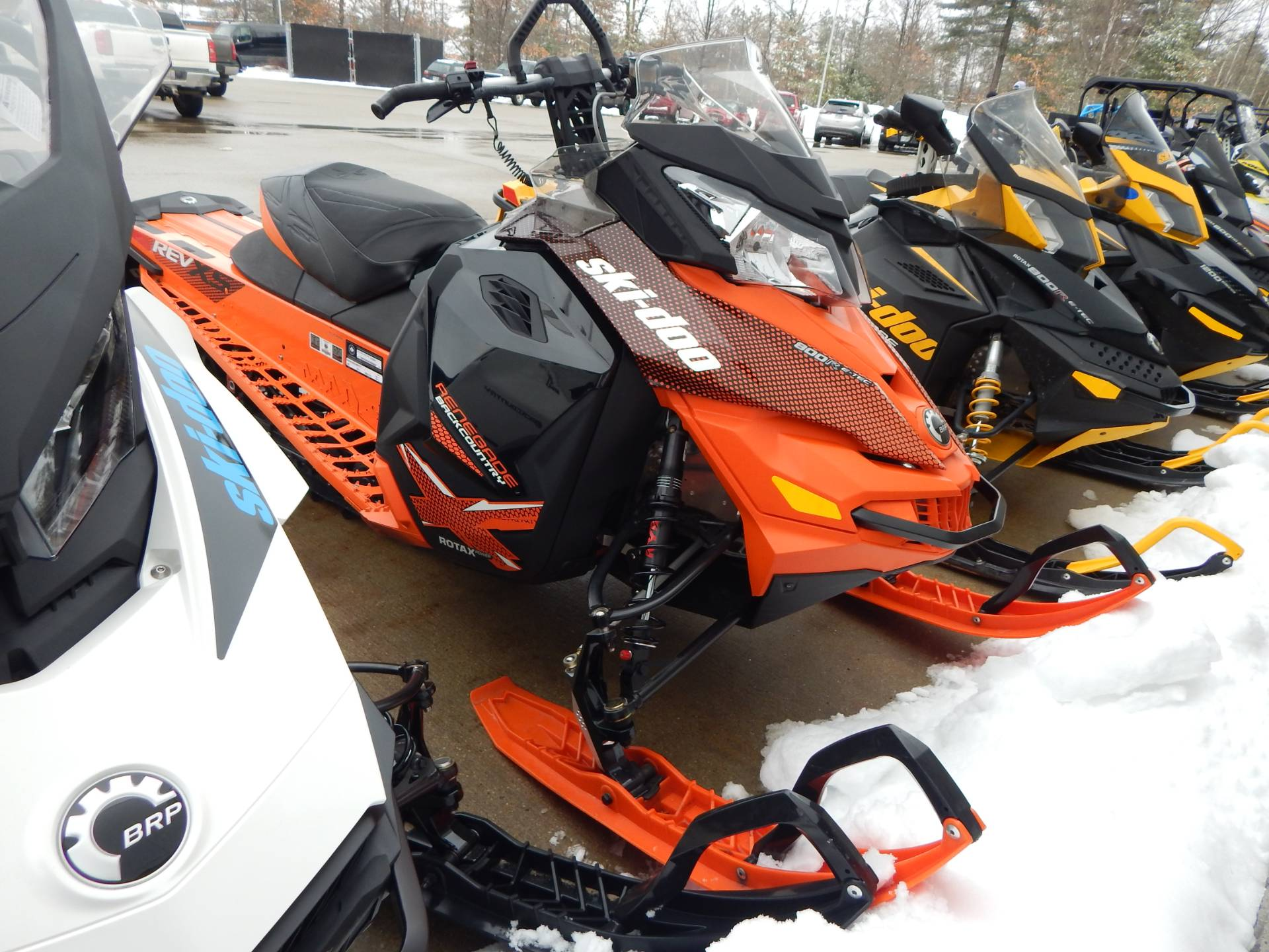 "2015 Ski-Doo Renegade® Backcountry™ X® 800R E-TEC® E.S. Powdermax 1.75"" in Concord, New Hampshire"