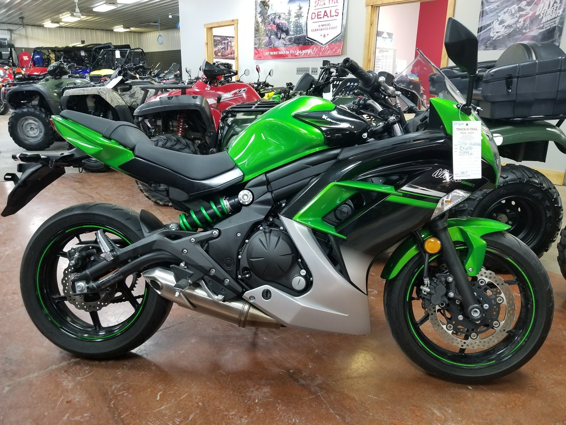 Used 2016 Kawasaki Ninja 650 Motorcycles In Spring Mills Pa