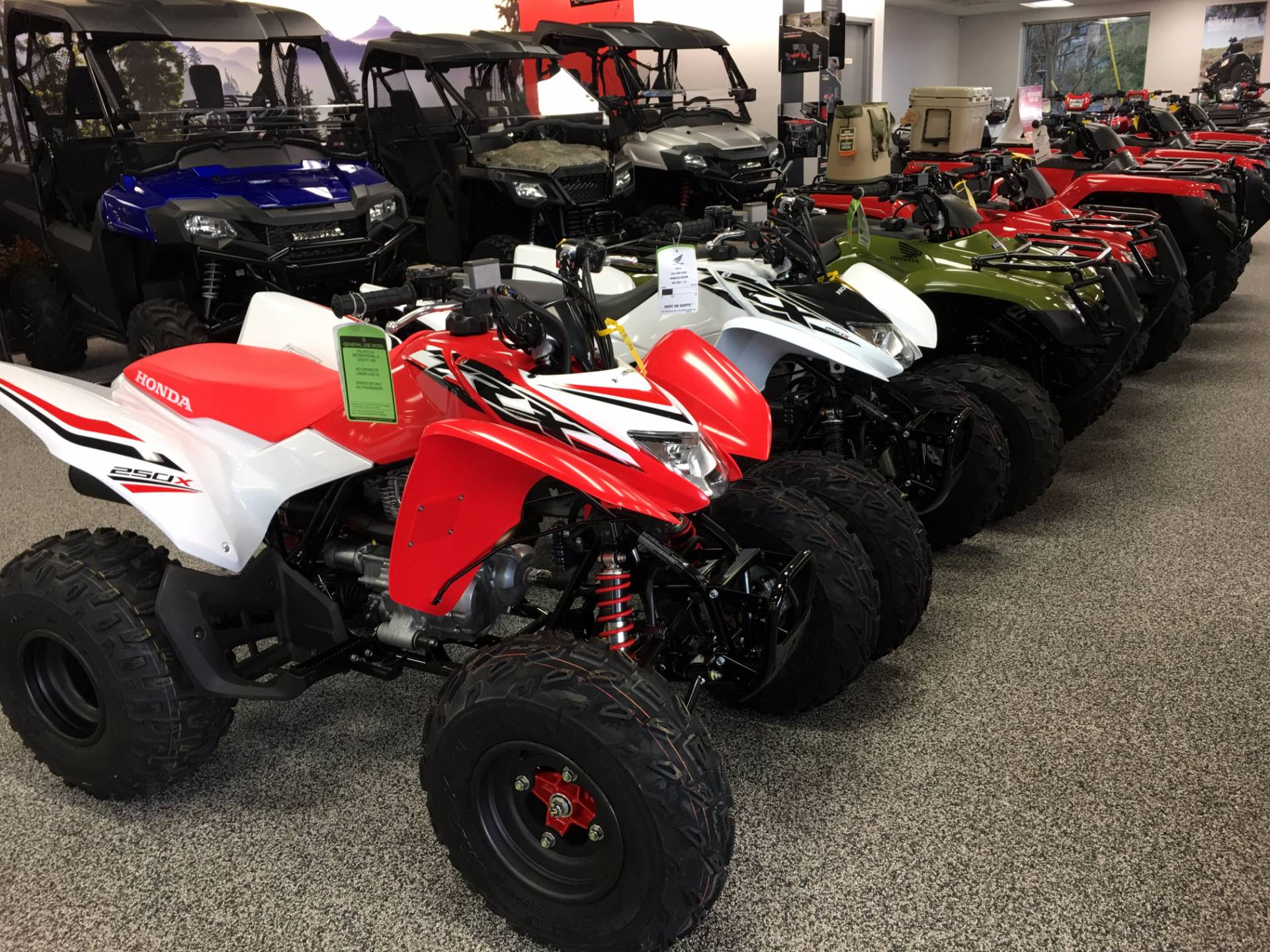 New 2017 honda all honda atv and sxs pricing to low to for Honda financial services customer service number