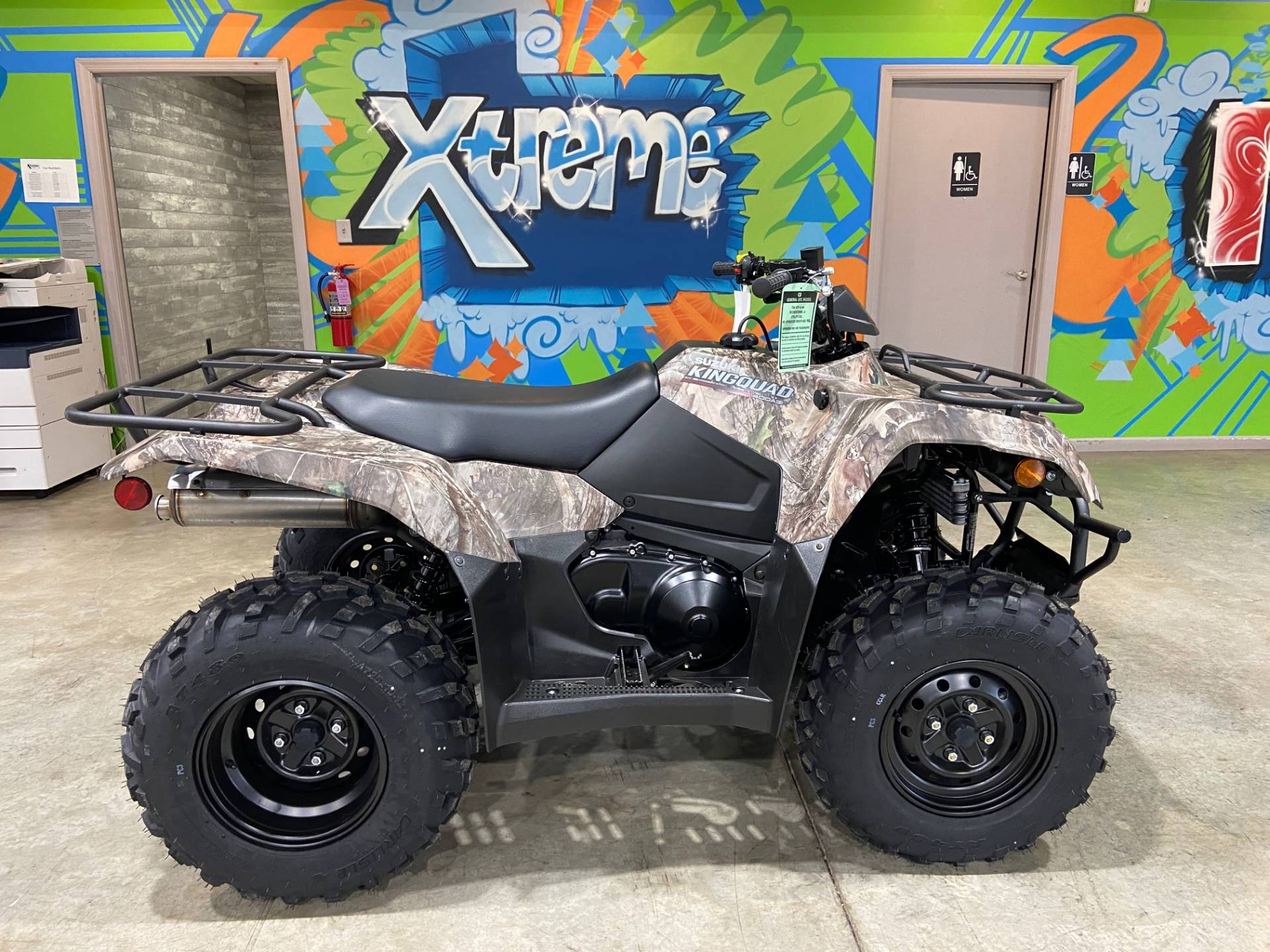 2021 Suzuki KingQuad 400ASi Camo in Claysville, Pennsylvania - Photo 1