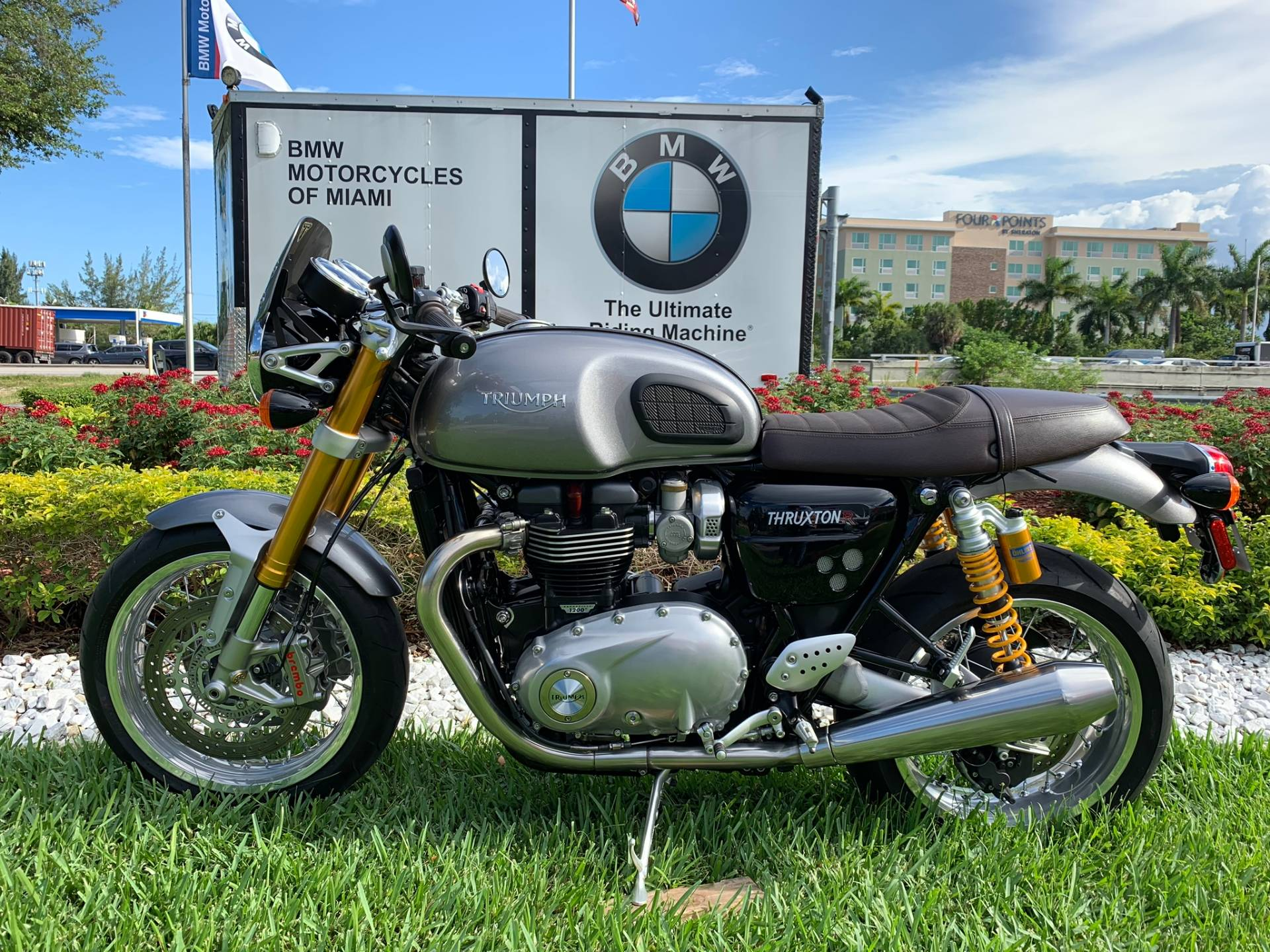 Used 2016 Triumph Thruxton 1200 R for sale,  2016 Triumph Thruxton 1200R for sale,  Triumph Thruxton1200R,  Used ThruxtonR, Cafe. Cruiser, BMW Motorcycles of Miami, Motorcycles of Miami, Motorcycles Miami, New Motorcycles, Used Motorcycles, pre-owned. #BMWMotorcyclesOfMiami #MotorcyclesOfMiami #Moto - Photo 1