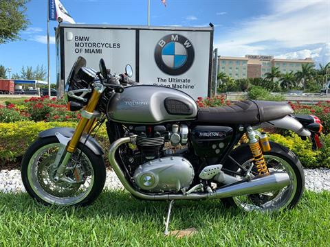 Used 2016 Triumph Thruxton 1200 R for sale,  2016 Triumph Thruxton 1200R for sale,  Triumph Thruxton1200R,  Used ThruxtonR, Cafe. Cruiser, BMW Motorcycles of Miami, Motorcycles of Miami, Motorcycles Miami, New Motorcycles, Used Motorcycles, pre-owned. #BMWMotorcyclesOfMiami #MotorcyclesOfMiami #Moto