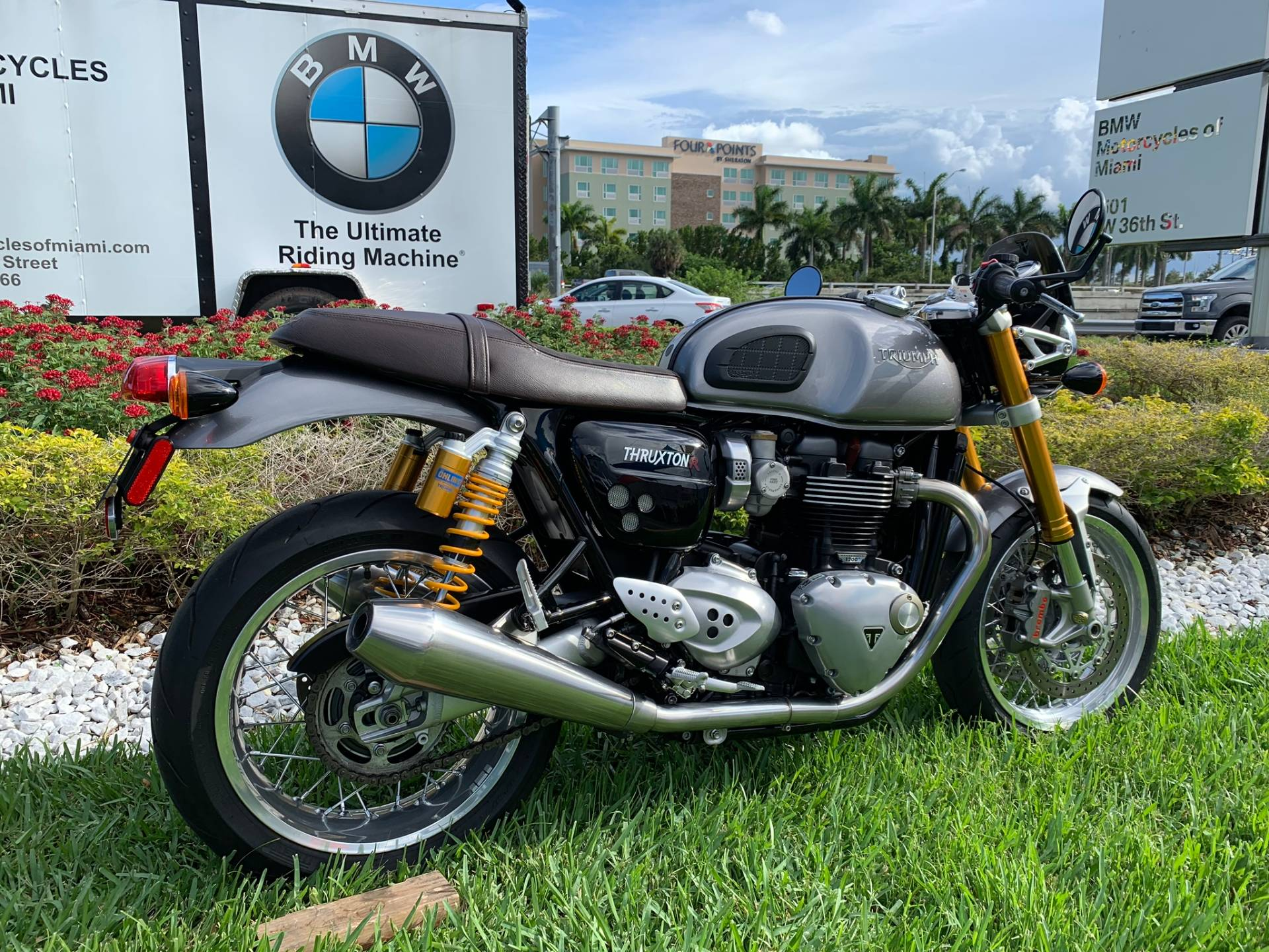 Used 2016 Triumph Thruxton 1200 R for sale,  2016 Triumph Thruxton 1200R for sale,  Triumph Thruxton1200R,  Used ThruxtonR, Cafe. Cruiser, BMW Motorcycles of Miami, Motorcycles of Miami, Motorcycles Miami, New Motorcycles, Used Motorcycles, pre-owned. #BMWMotorcyclesOfMiami #MotorcyclesOfMiami #Moto - Photo 20