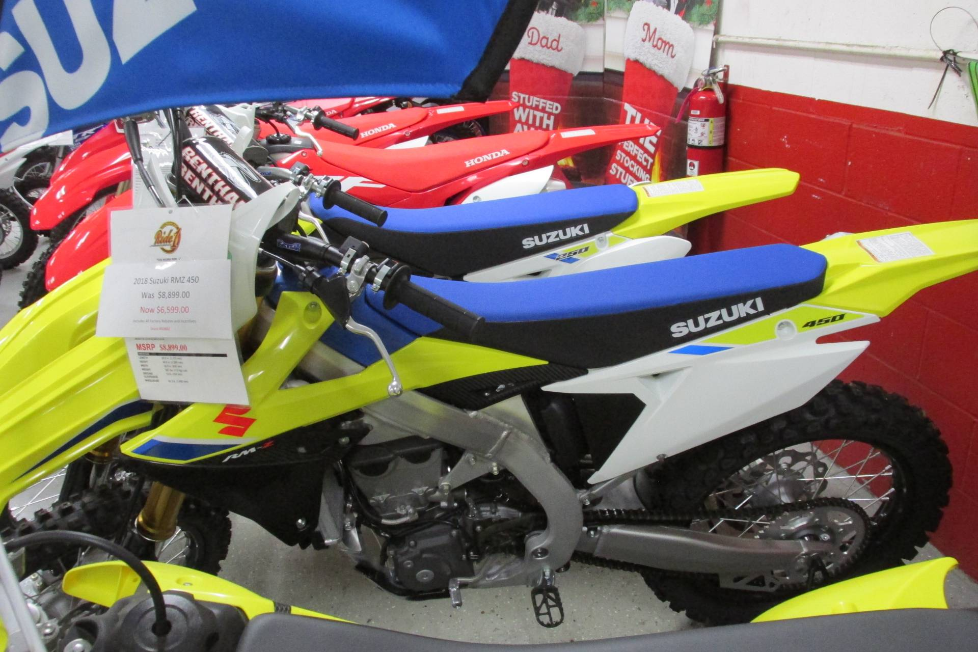 2018 Suzuki RMZ 450 in Springfield, Ohio