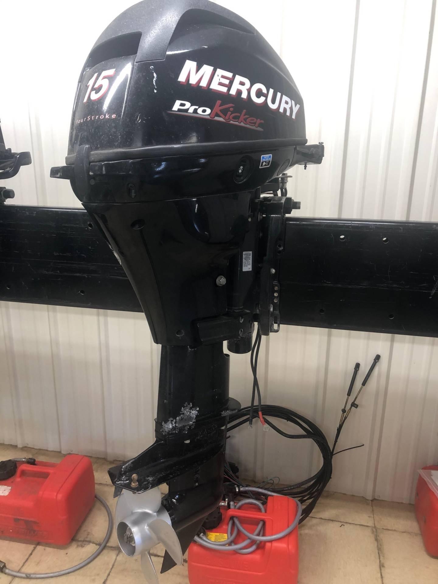 Used Mercury 15 Pro Kicker Boat Engines In Trego Wi N A
