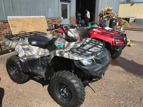 2016 Suzuki KingQuad 500AXi Power Steering Camo in Superior, Wisconsin