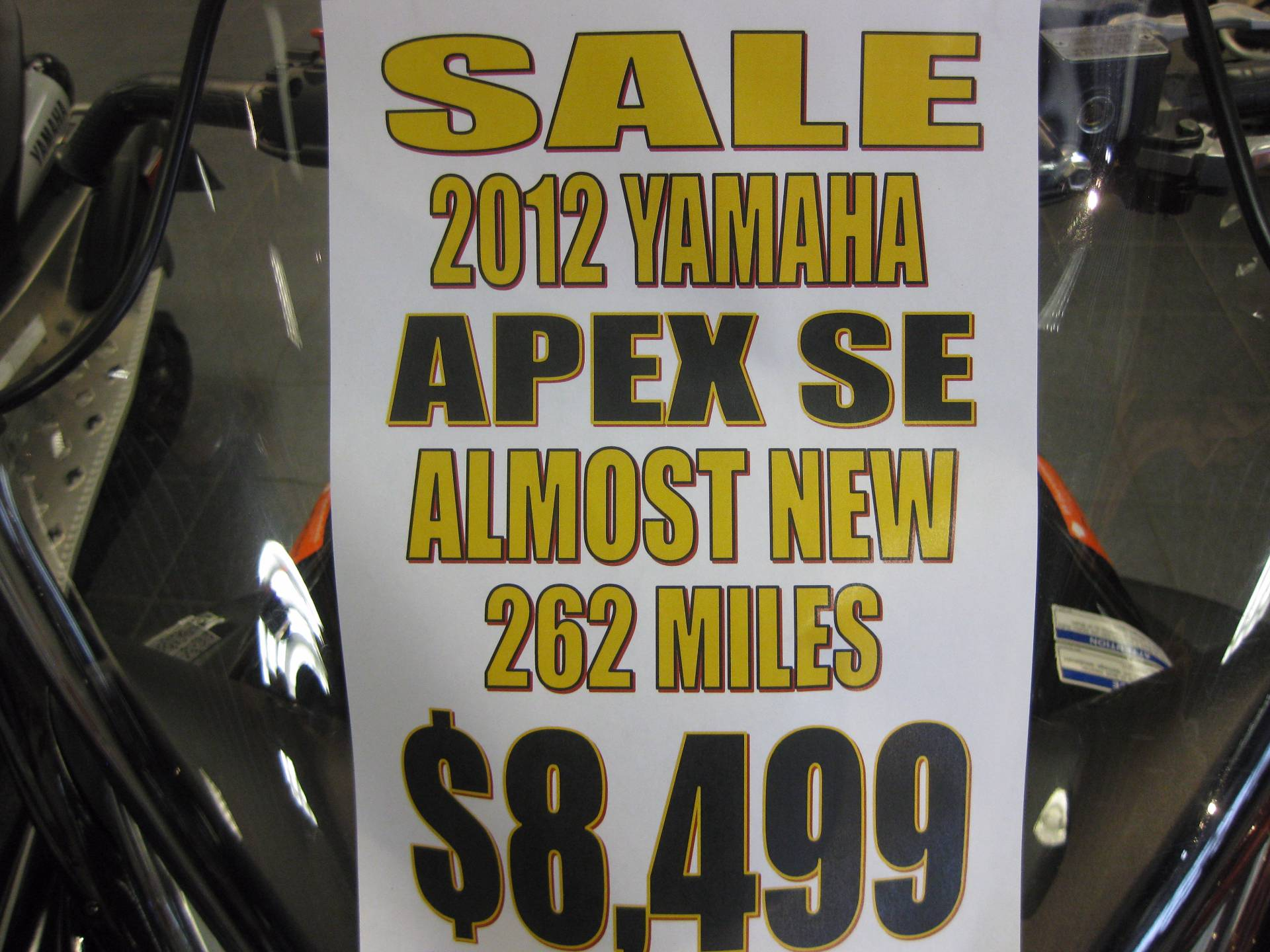 2012 Yamaha Apex SE 10th Anniversary in Wisconsin Rapids, Wisconsin