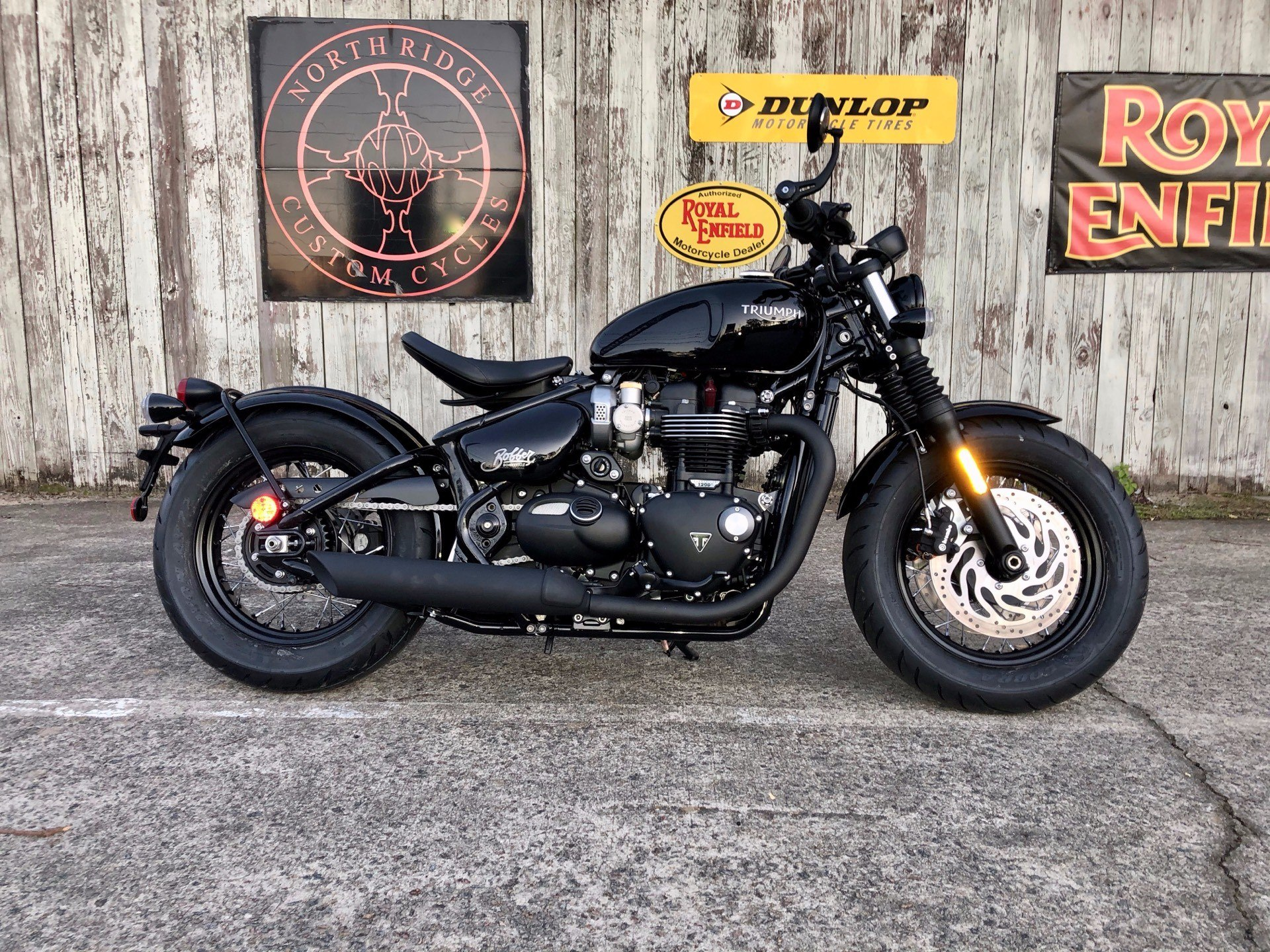 2020 Triumph Bonneville Bobber Black in Charleston, South Carolina - Photo 1