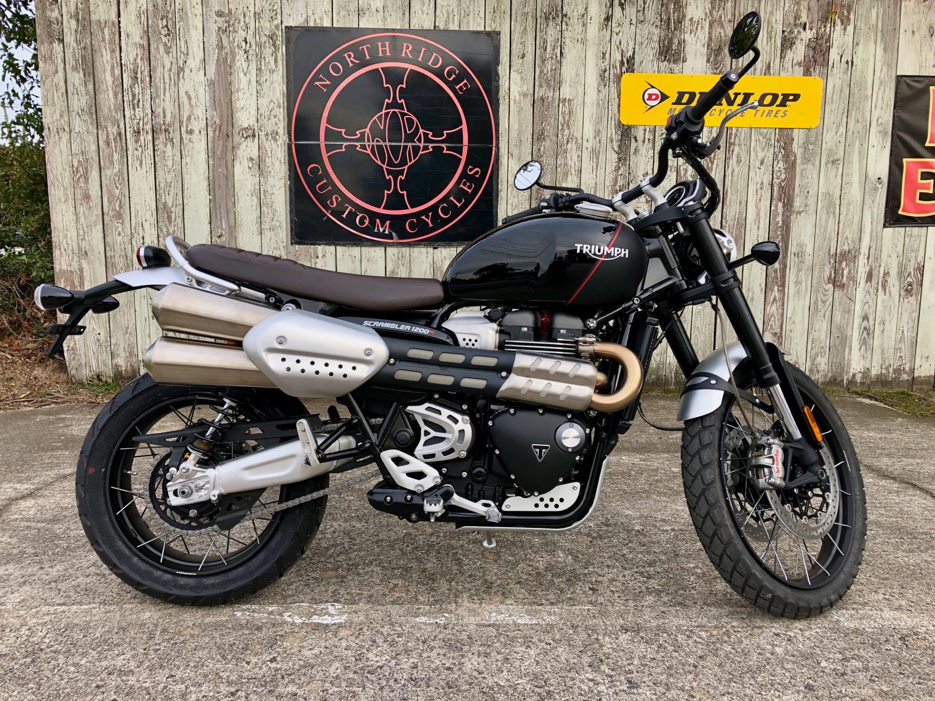 New 2020 Triumph Scrambler 1200 XC | Motorcycles in Charleston SC | TRIAA4751 Jet Black / Matt Black