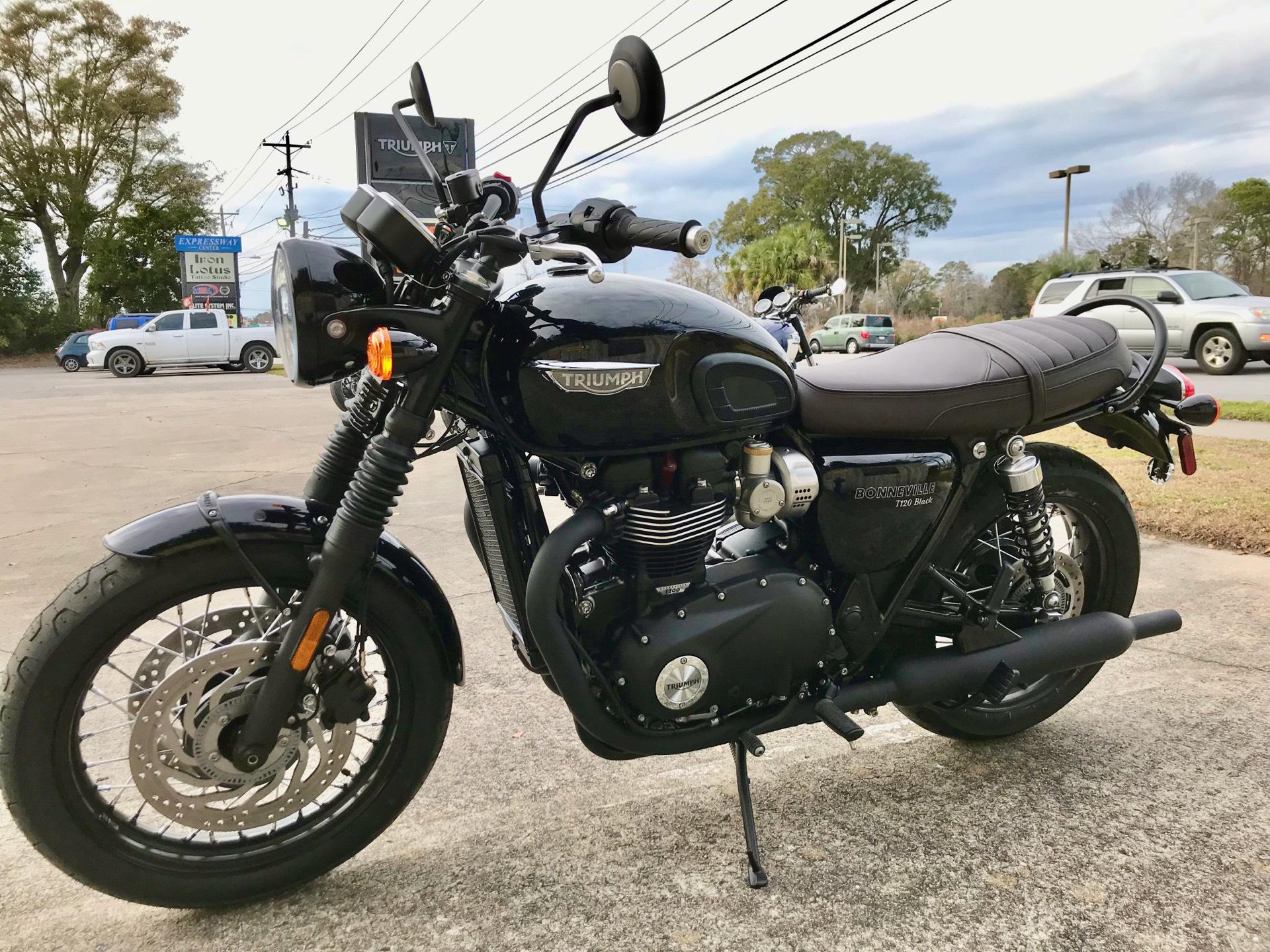 New 2020 Triumph Bonneville T120 Black Motorcycles In Charleston Sc Triab0931 Jet Black