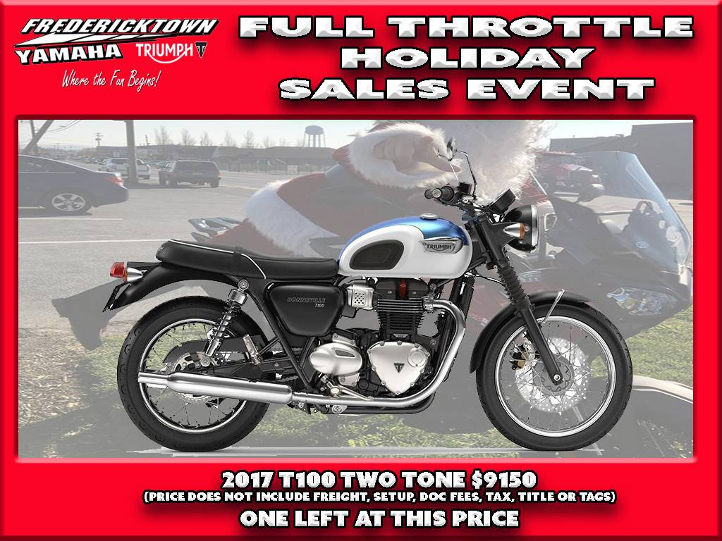 New 2017 Triumph Bonneville T100 Motorcycles In Frederick Md