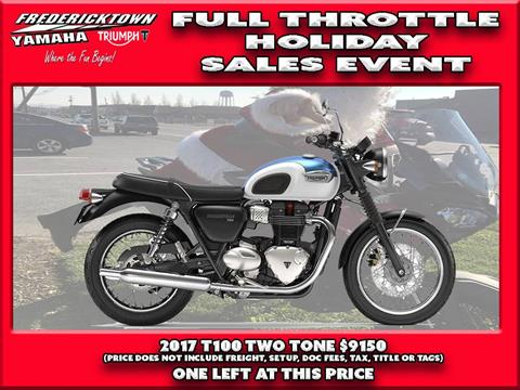 2017 Triumph Bonneville T100 in Frederick, Maryland