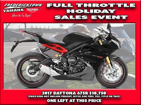 2017 Triumph Daytona 675 R ABS in Frederick, Maryland
