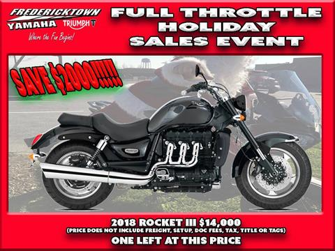 2018 Triumph Rocket III Roadster ABS in Frederick, Maryland