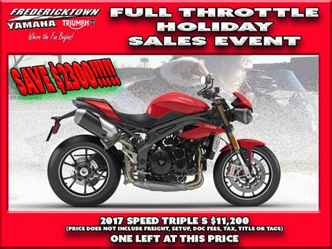 2017 Triumph Speed Triple S in Frederick, Maryland