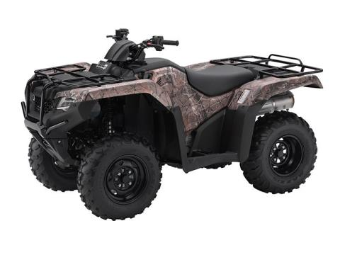 2016 Honda FourTrax Rancher 4x4 ES Camo (TRX420FE1) in Crystal Lake, Illinois