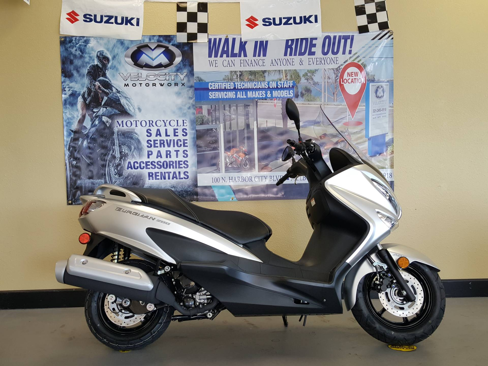 new 2018 suzuki burgman 200 scooters in melbourne fl. Black Bedroom Furniture Sets. Home Design Ideas