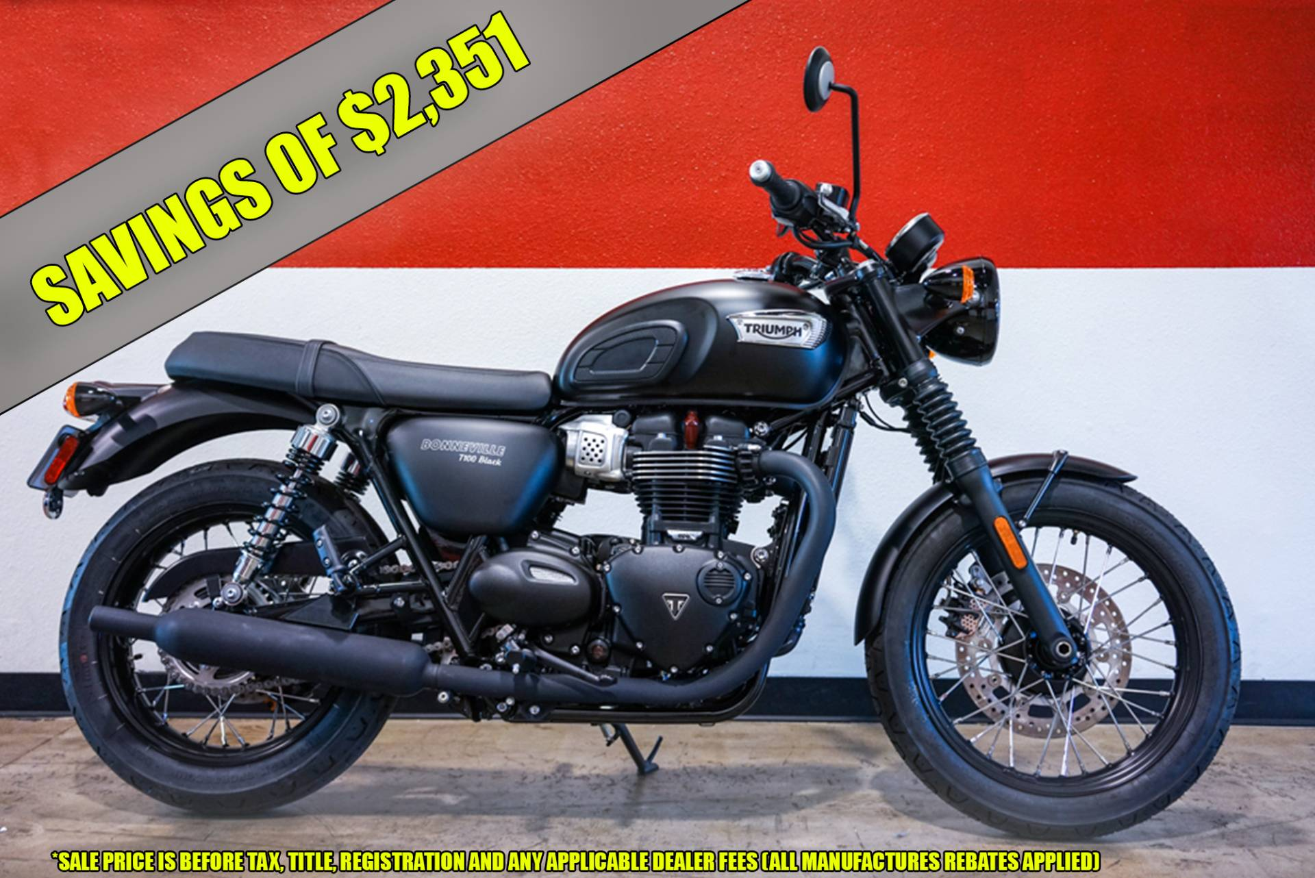 New 2018 Triumph Bonneville T100 Black Motorcycles In Brea Ca