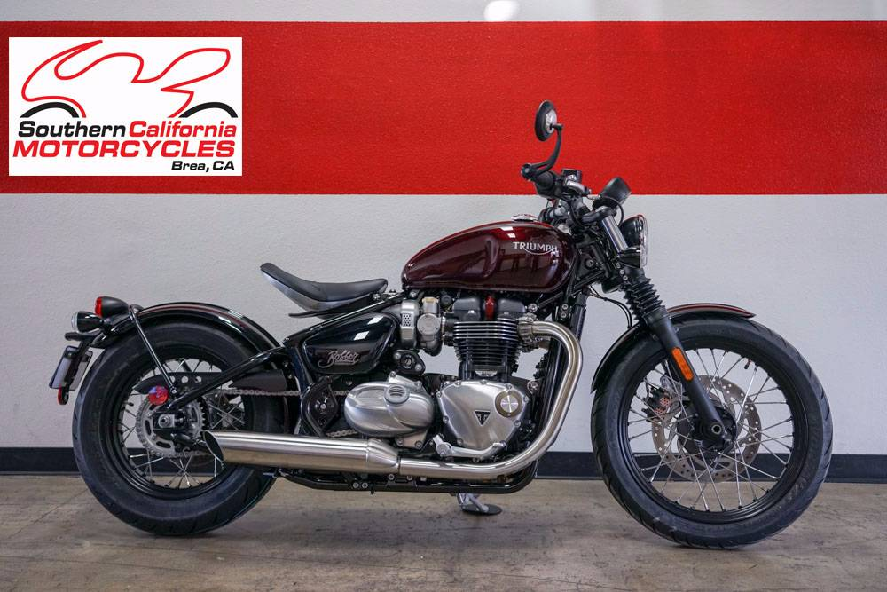 2018 Triumph BONNEVILLE BOBBER in Brea, California