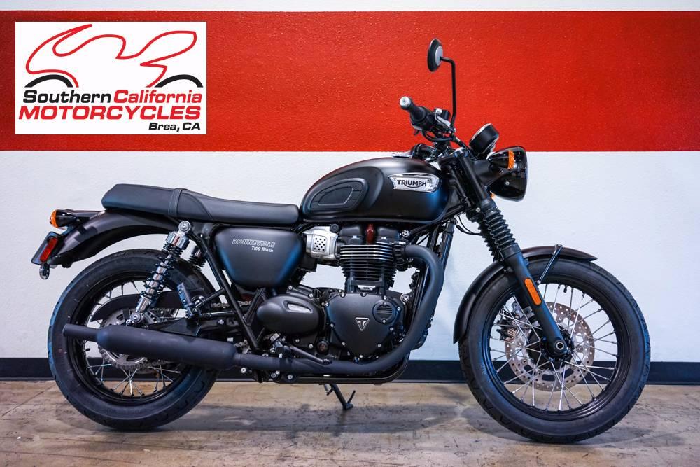New 2017 Triumph Bonneville T100 Black Motorcycles in Brea, CA