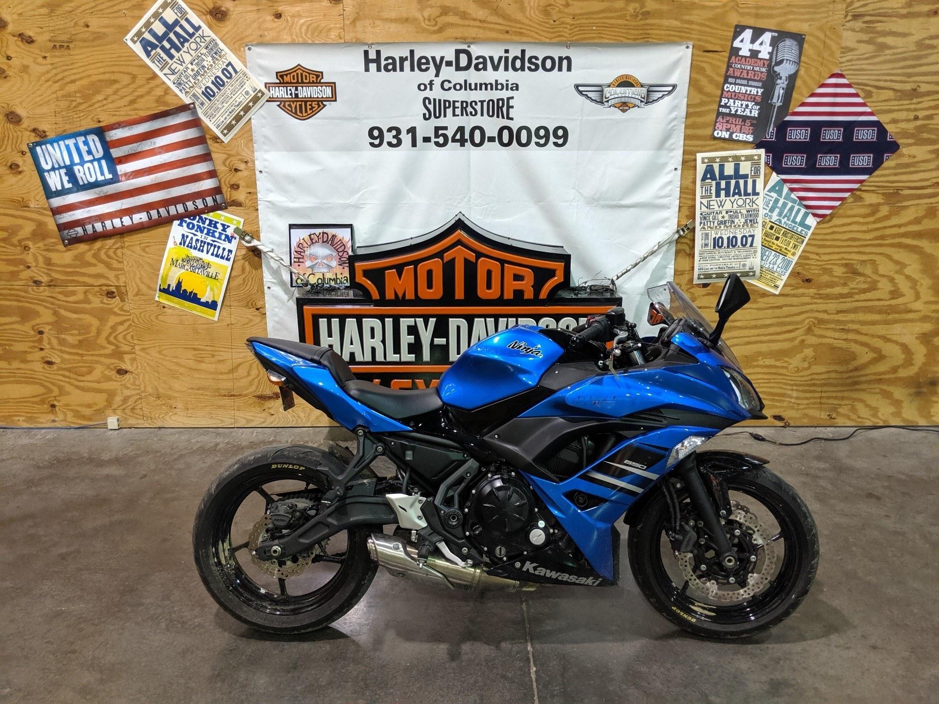 Used 2018 Kawasaki Ninja 650 Motor Bikes In Columbia Tn Blue 02728