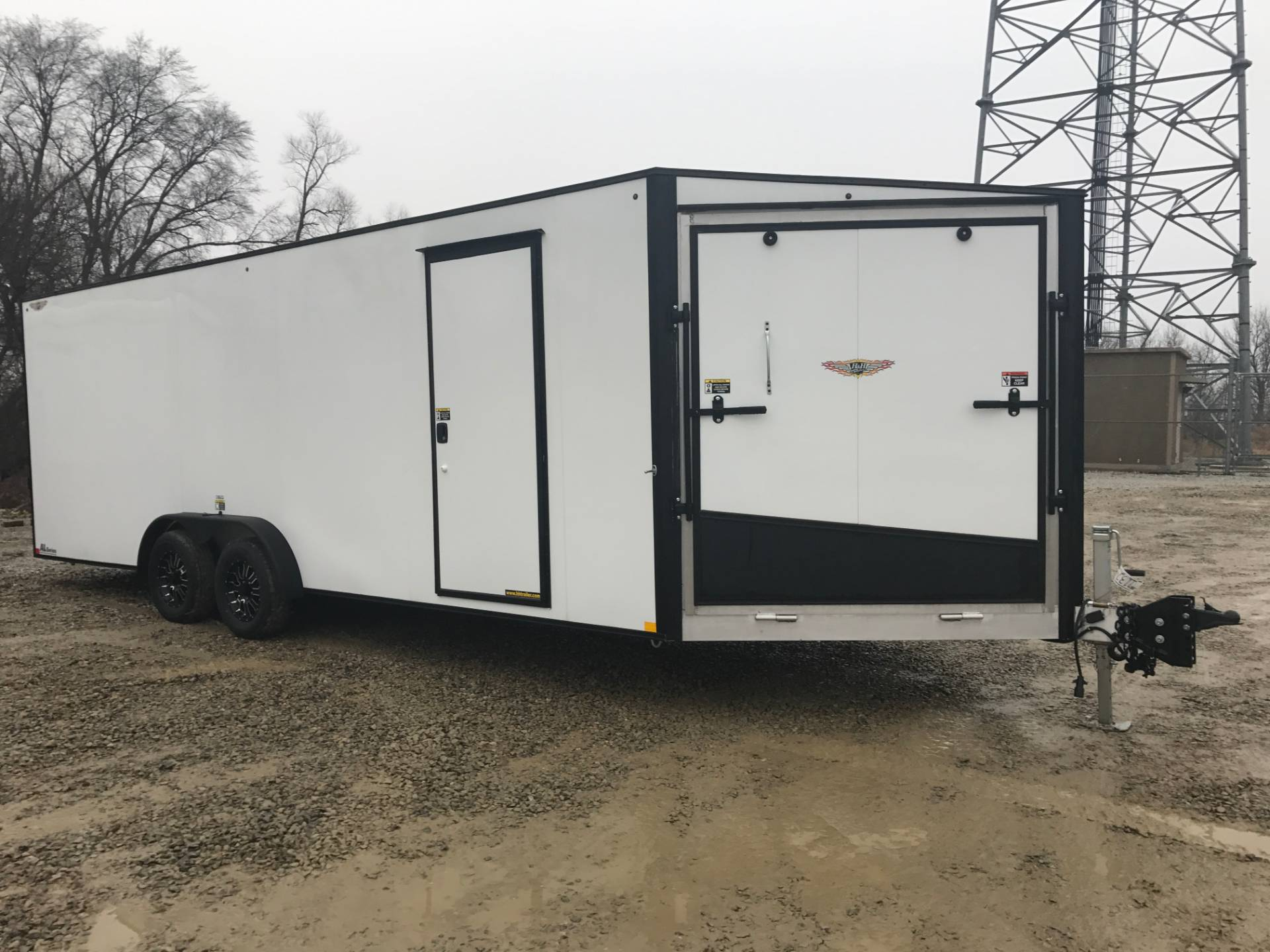 2017 H&H ALUMINUM ECLOSED SLED TRAILER 8X22+5 in Atlantic, Iowa