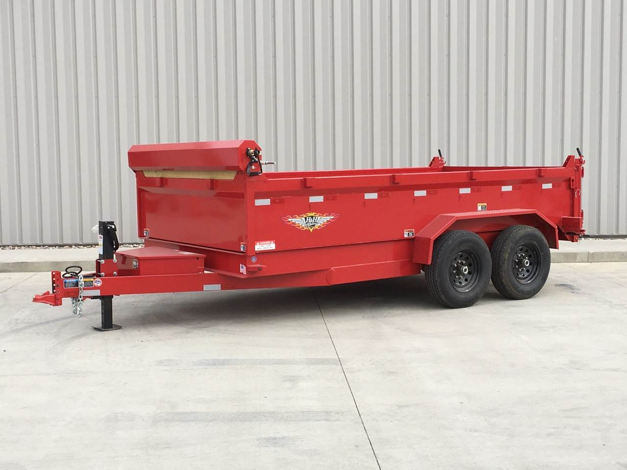 2017 H&H 16FT DB DUMP TRAILER in Atlantic, Iowa
