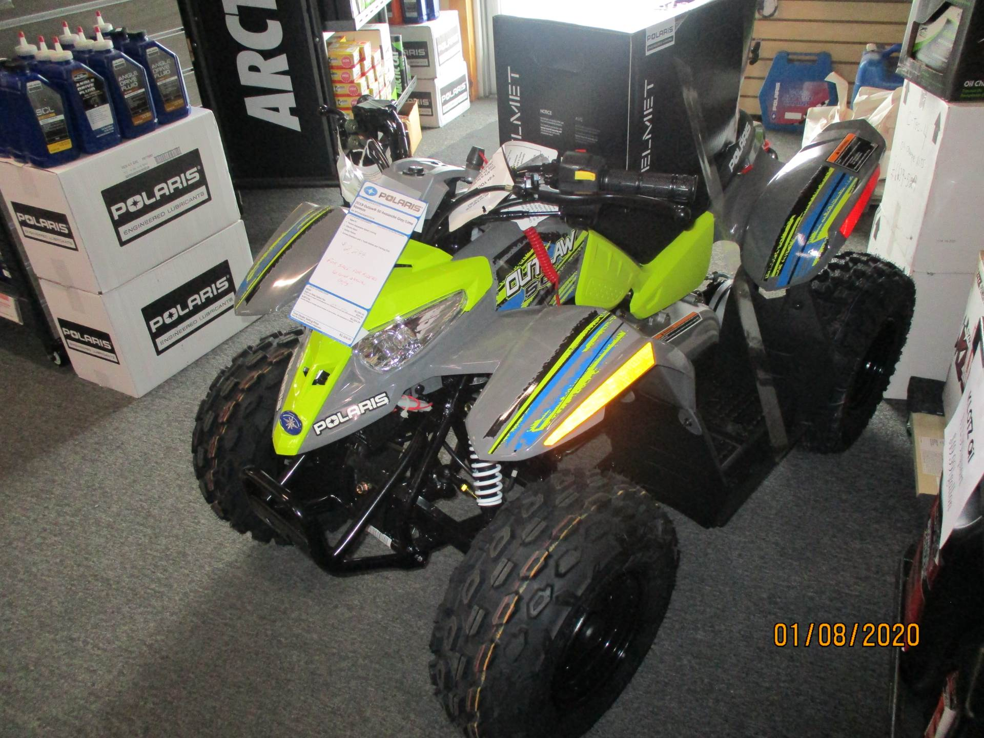 2019 Polaris Outlaw 50 in Little Falls, New York - Photo 1