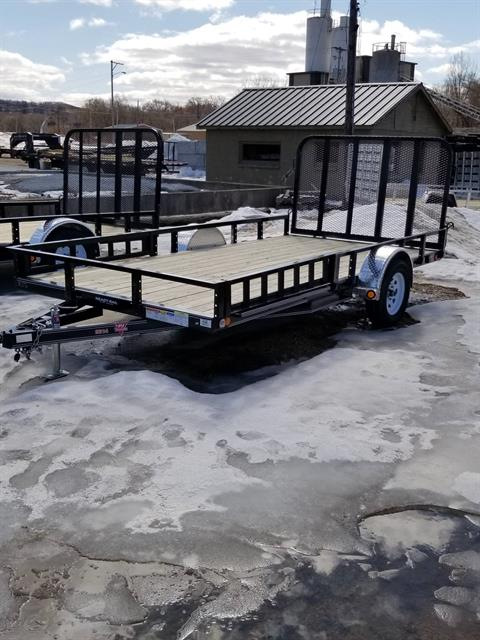 "2019 PJ Trailers 83"" Single Axle Channel Utility (U8) in Hillsboro, Wisconsin - Photo 1"