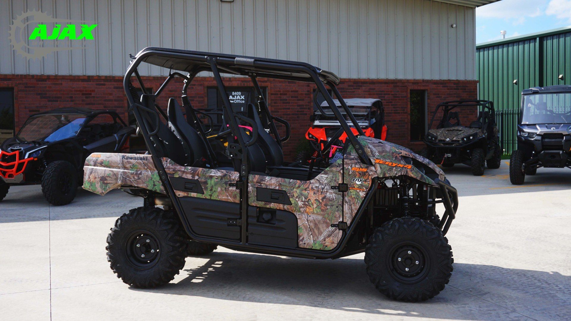 New 2018 kawasaki teryx4 camo utility vehicles in oklahoma for Oklahoma tax commission motor vehicle division phone number