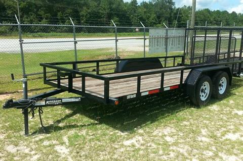 2019 Anderson Trailers TANDEM WOOD TRAILER in Tifton, Georgia