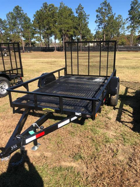 2020 Arch Trailers 6X10 SINGLE AXLE UTILITY TRAILER MESH FLOOR WITH GATE in Tifton, Georgia
