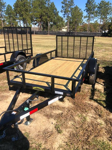 2020 Arch Trailers 5X10 SINGLE AXLE UTILITY TRAILER BEAVER TAIL WITH GATE in Tifton, Georgia