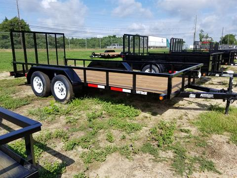 2019 Anderson Trailers 6X16 LANDSCAPE TANDEM AXLE UTILITY WOOD in Tifton, Georgia