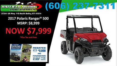 2017 Polaris Ranger 500 in Belfry, Kentucky