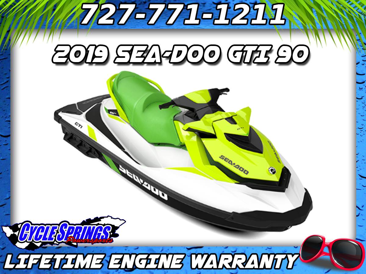 2019 Sea-Doo GTI 90 iBR in Clearwater, Florida - Photo 1