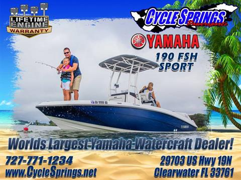 2017 Yamaha 190 FSH Sport in Clearwater, Florida