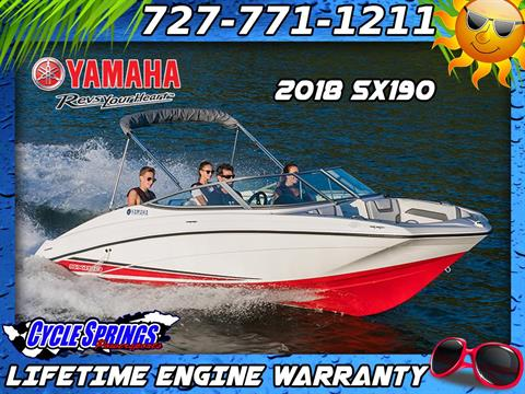 2018 Yamaha SX190 in Clearwater, Florida