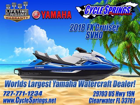 2018 Yamaha FX Cruiser SVHO in Clearwater, Florida