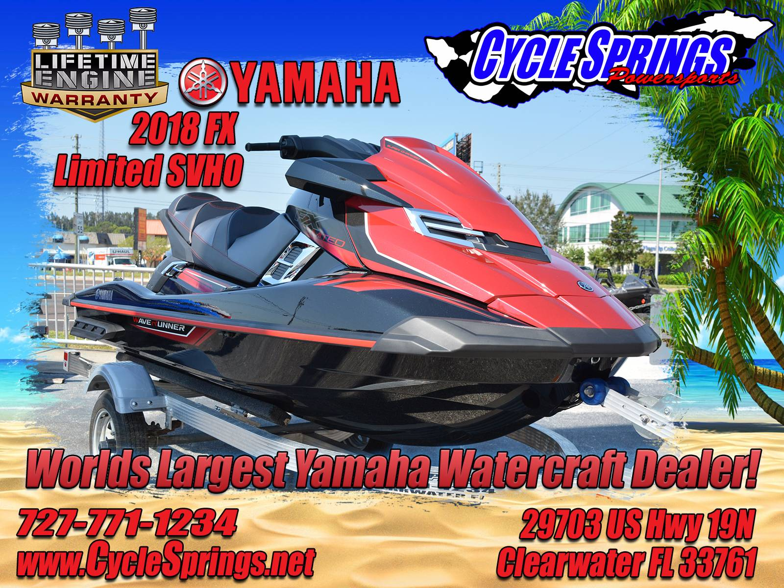 New 2018 yamaha fx limited svho watercraft in clearwater fl for Yamaha fx limited