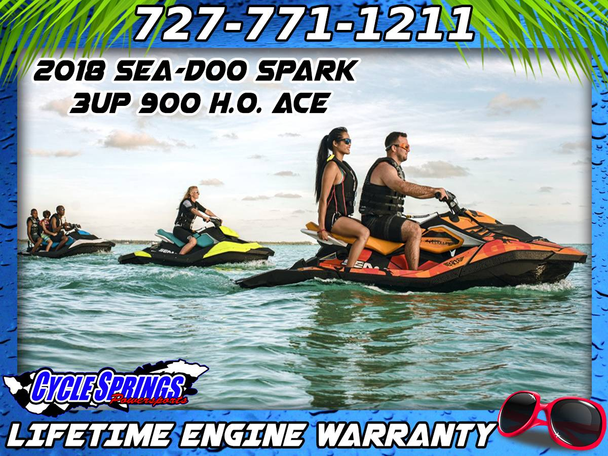 New 2018 Sea-Doo SPARK 3up 900 H.O. ACE Watercraft in Clearwater, FL ...